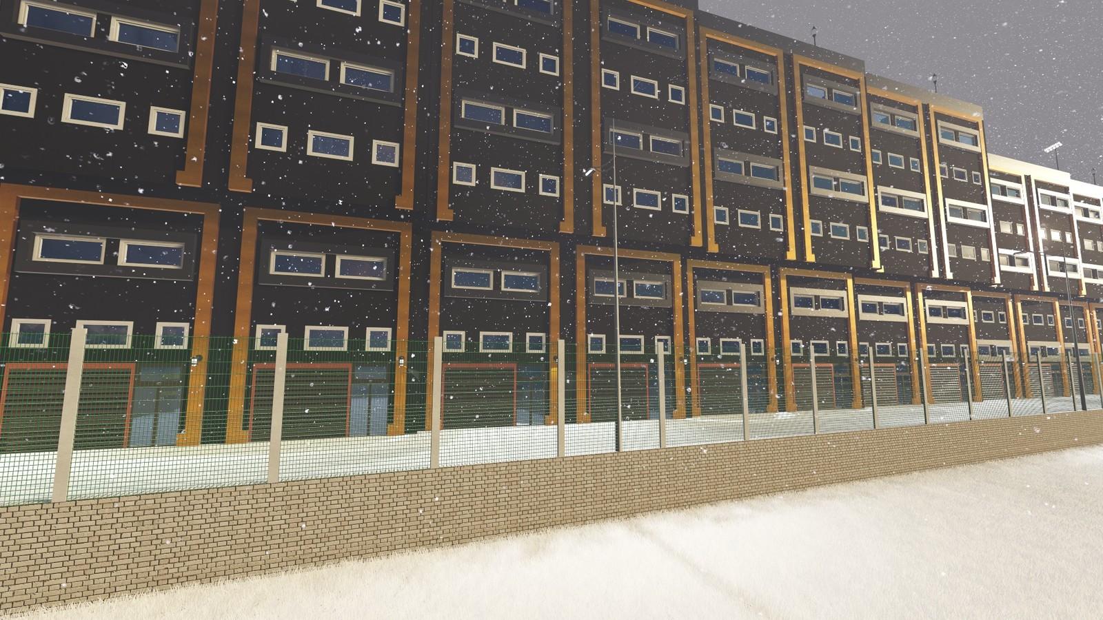 ModSan Industry Area SNOWY DAY #pixanirenders