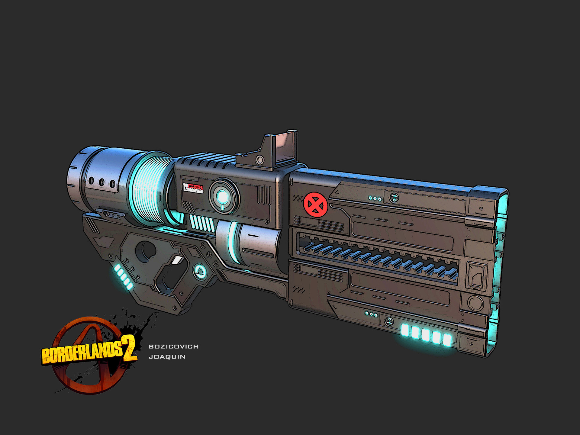 ArtStation - Bordelands 2 Concept art gun, Joaquin bozicovich