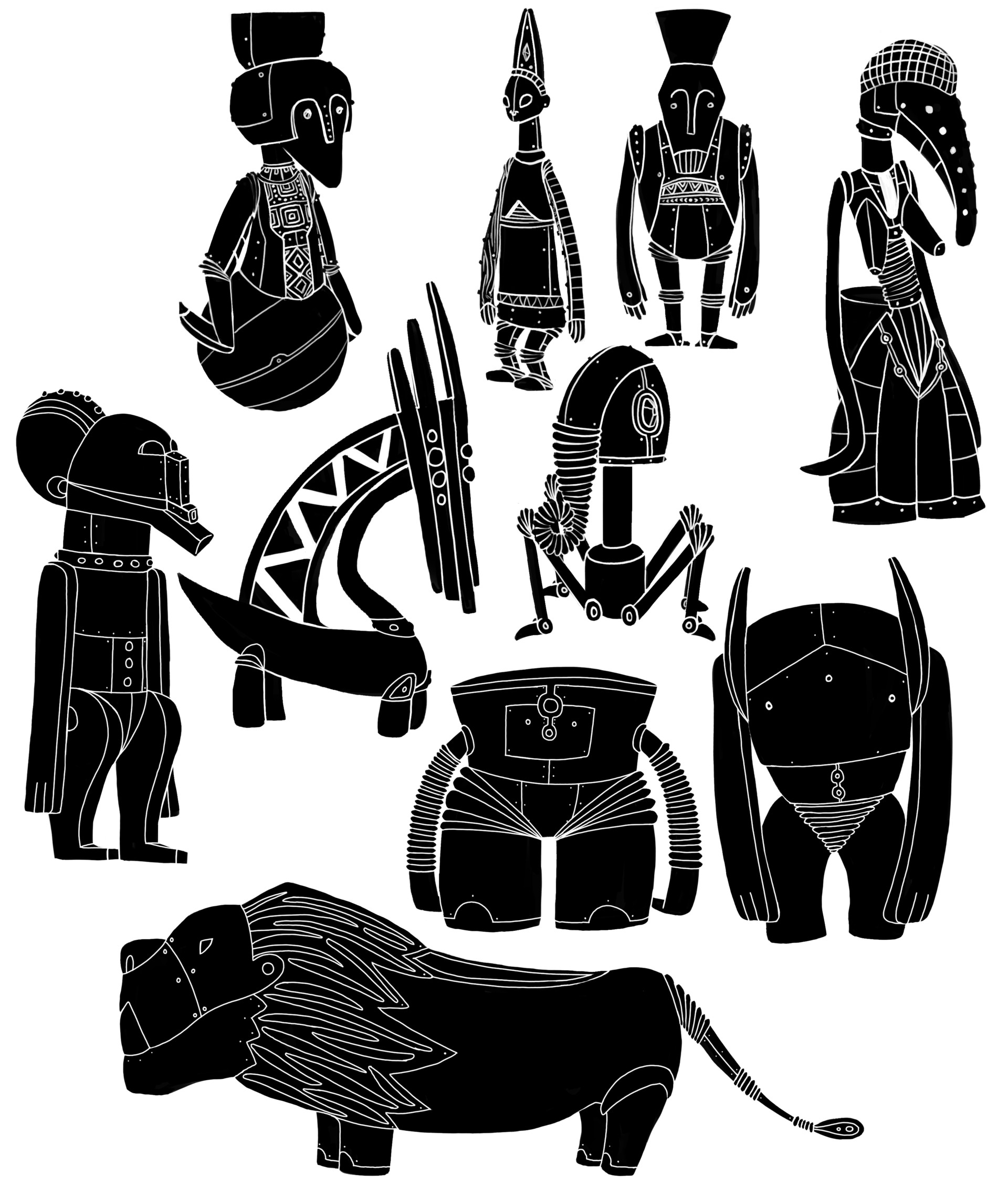 Robots silhouettes