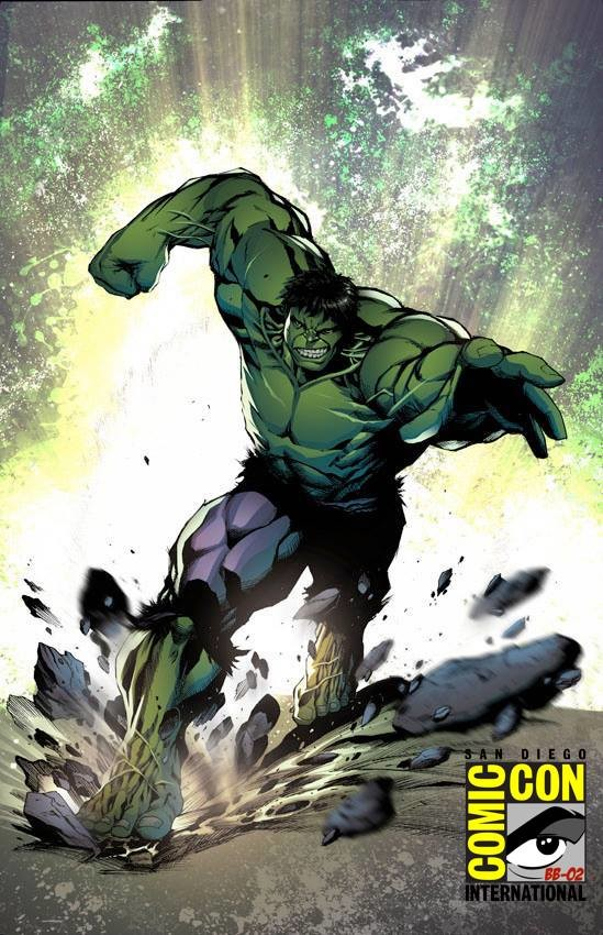 The Hulk smashing his way to San Diego Comic Con 2018. Come see me at the artist alley BB-02. See you guys there.