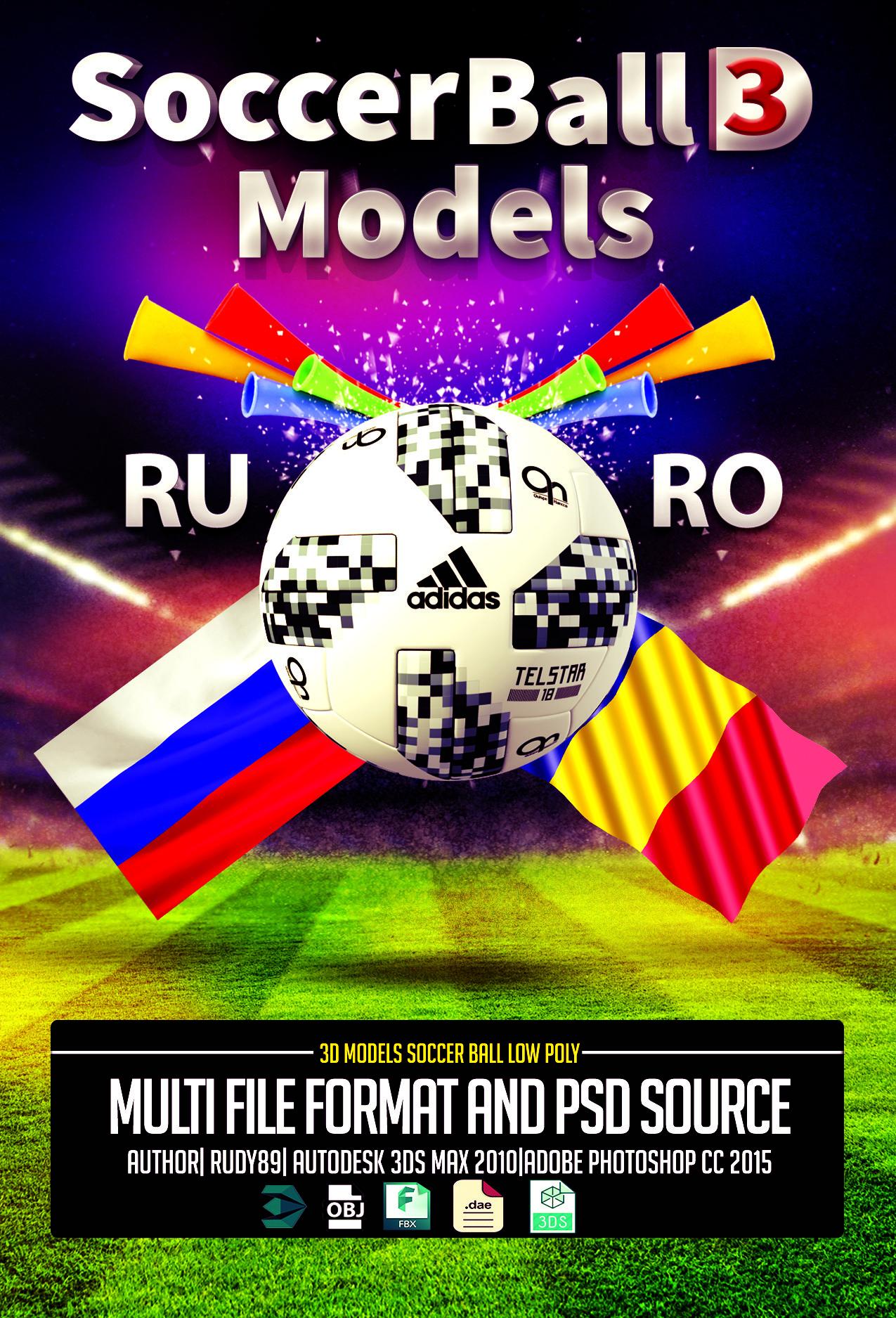 Stoian Rudolf Florian - Soccer Ball Adidas 2018 3D models