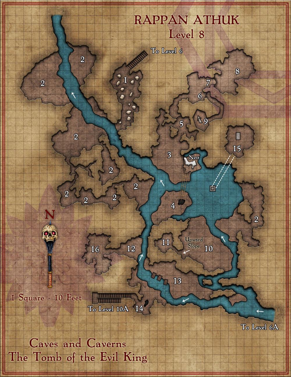 Rappan Athuk Map