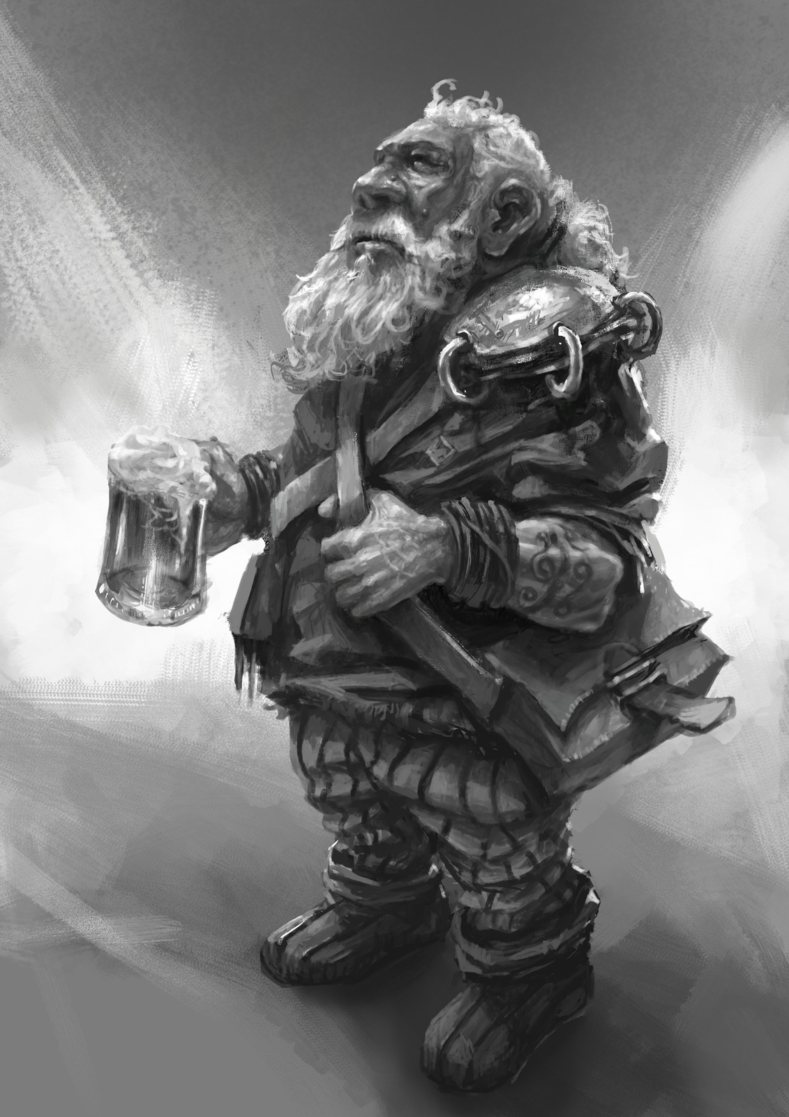 Dwarf after work