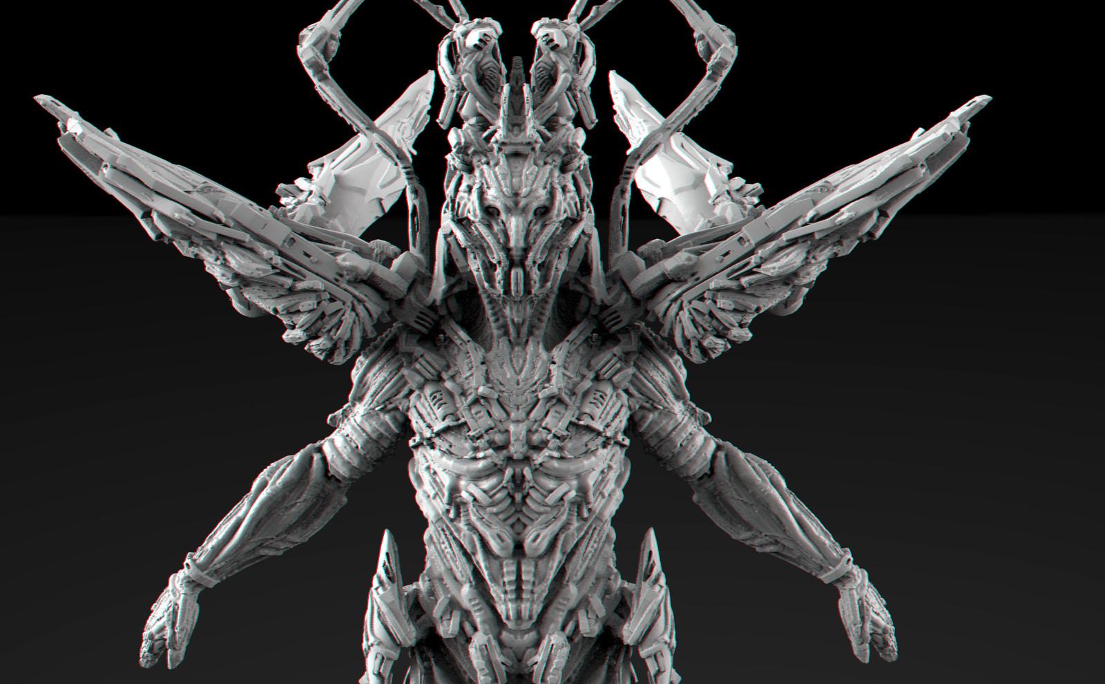Mech Angel 3D  Coat concept design
