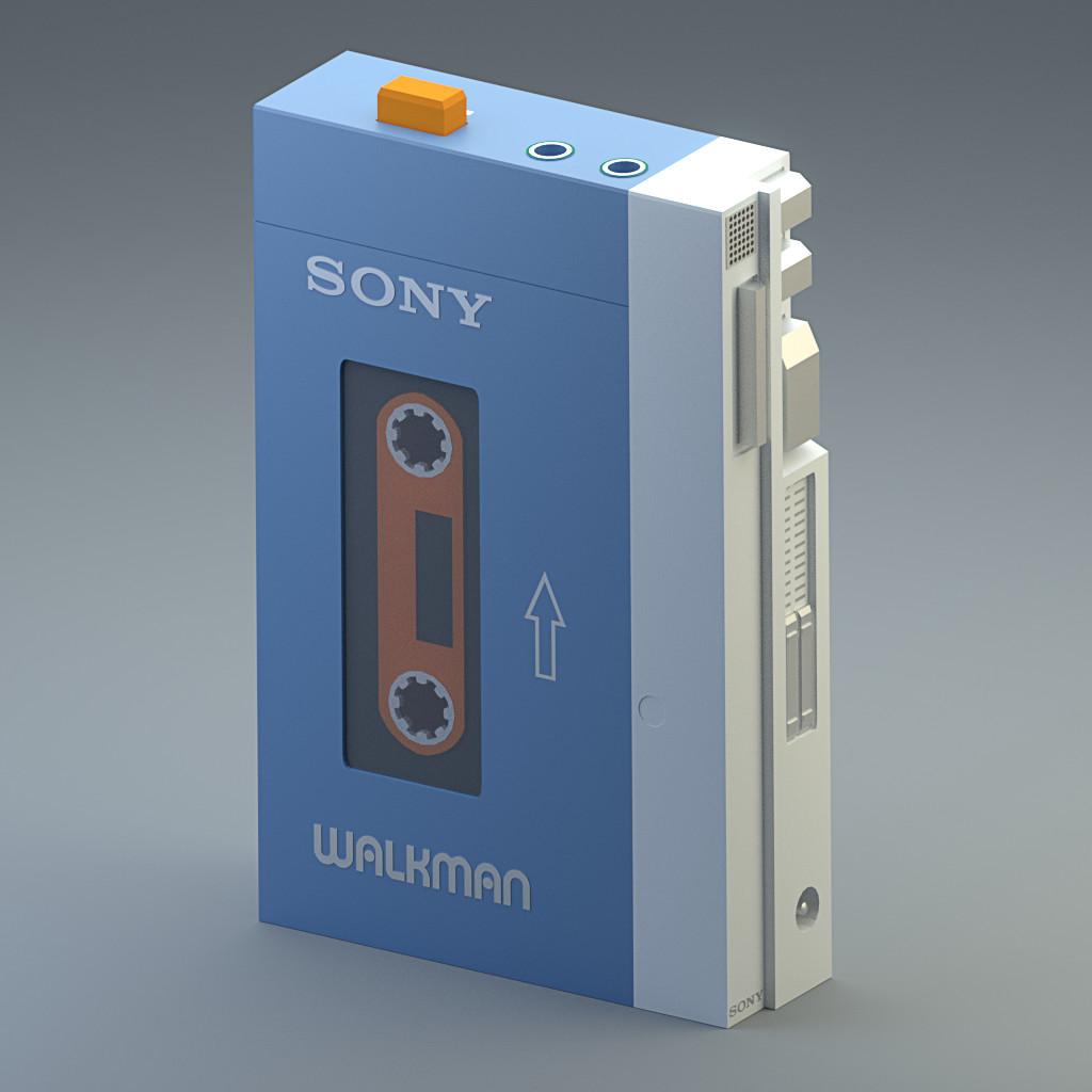 Low Poly Sony Walkman TPS-L2