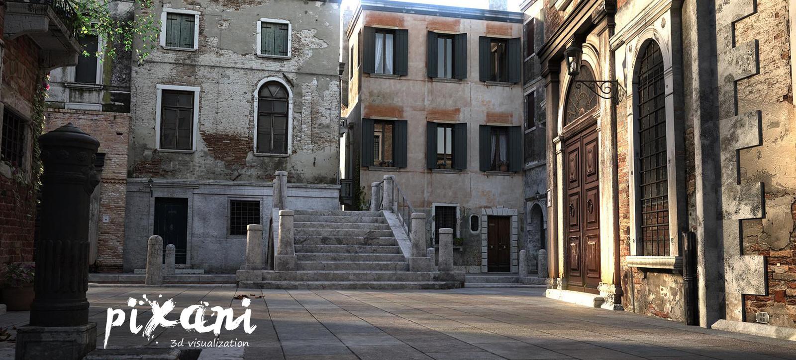 Venice streets  3D visualization  #3Dgörselleştirme #venice #streetview