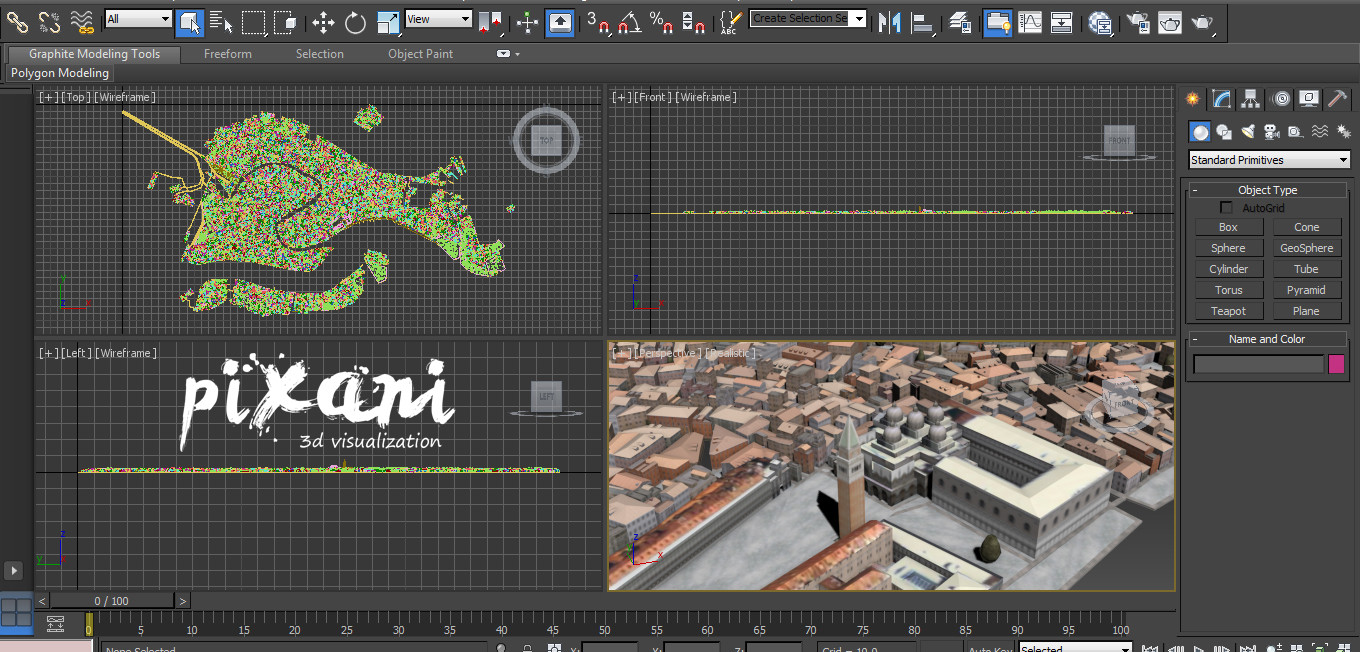 Pixani workspace on 3Ds Max in 2013 VENICE City