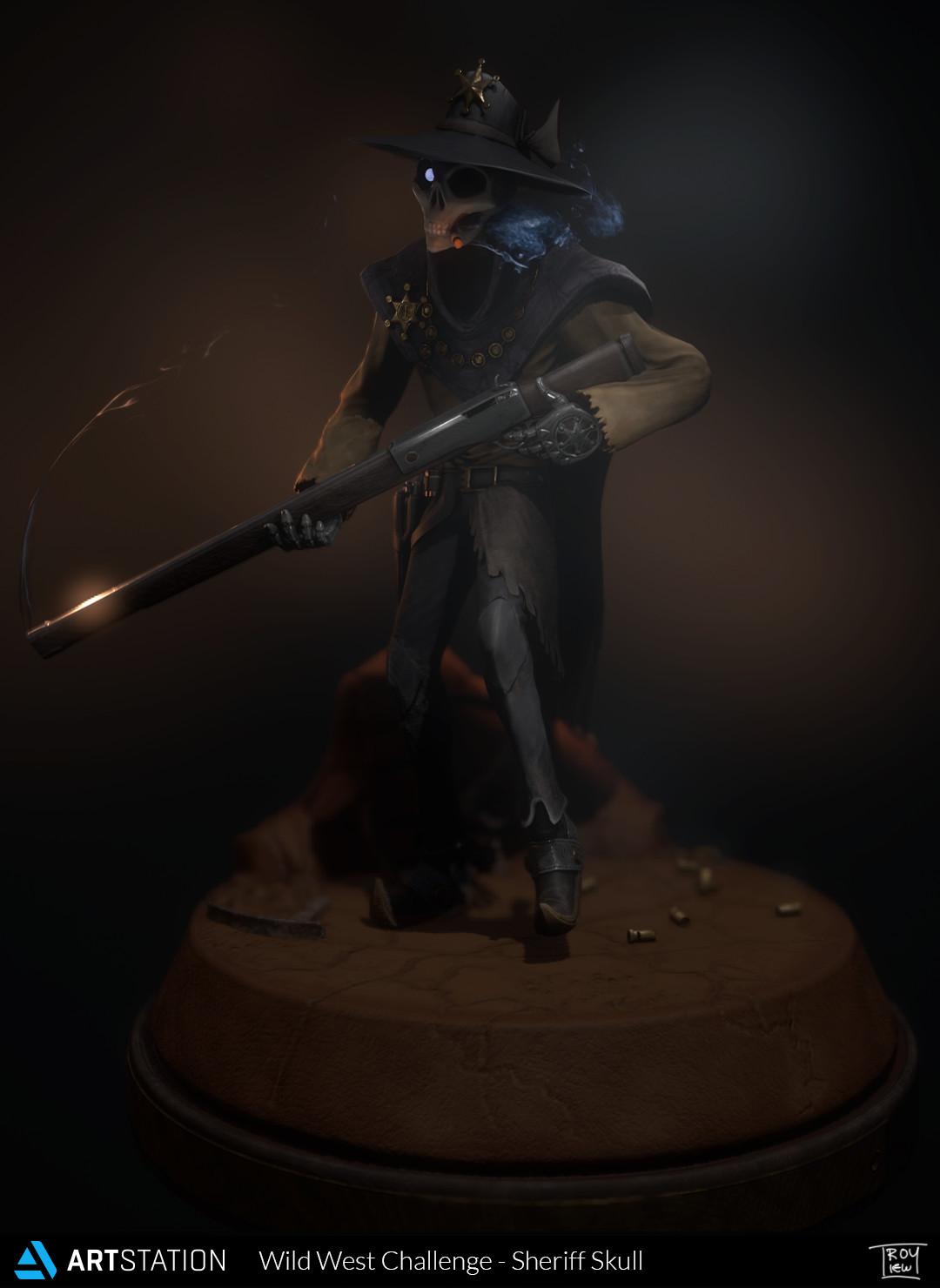 Sheriff Skull - Wild West Challenge