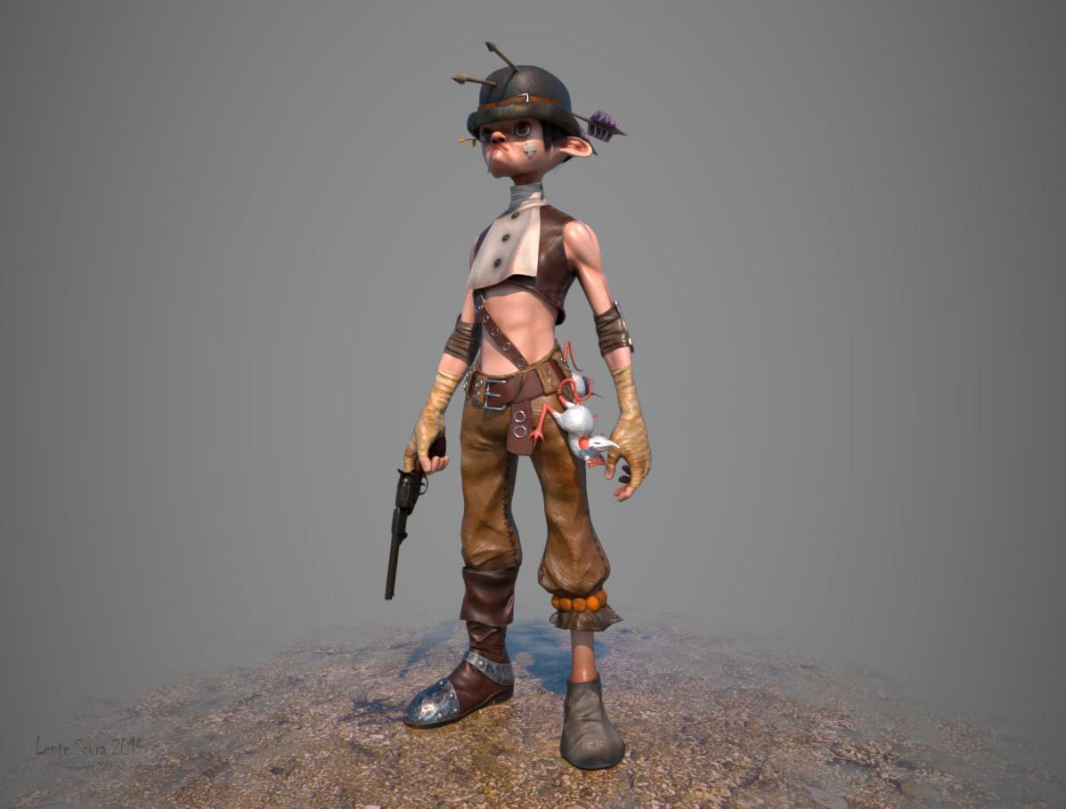 Billy Three Arrows Wild West Film/VFX Character Art