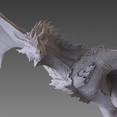 Jia hao 2017 spikydragon flying digitalsculpting 02