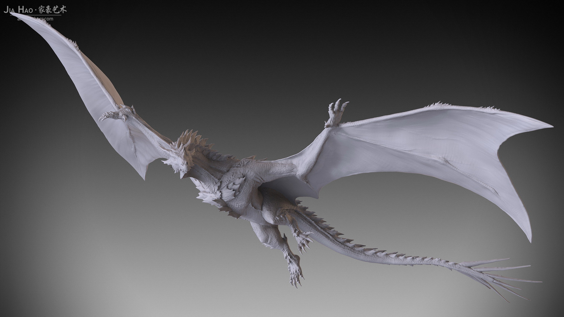 Jia hao 2017 spikydragon flying digitalsculpting 02