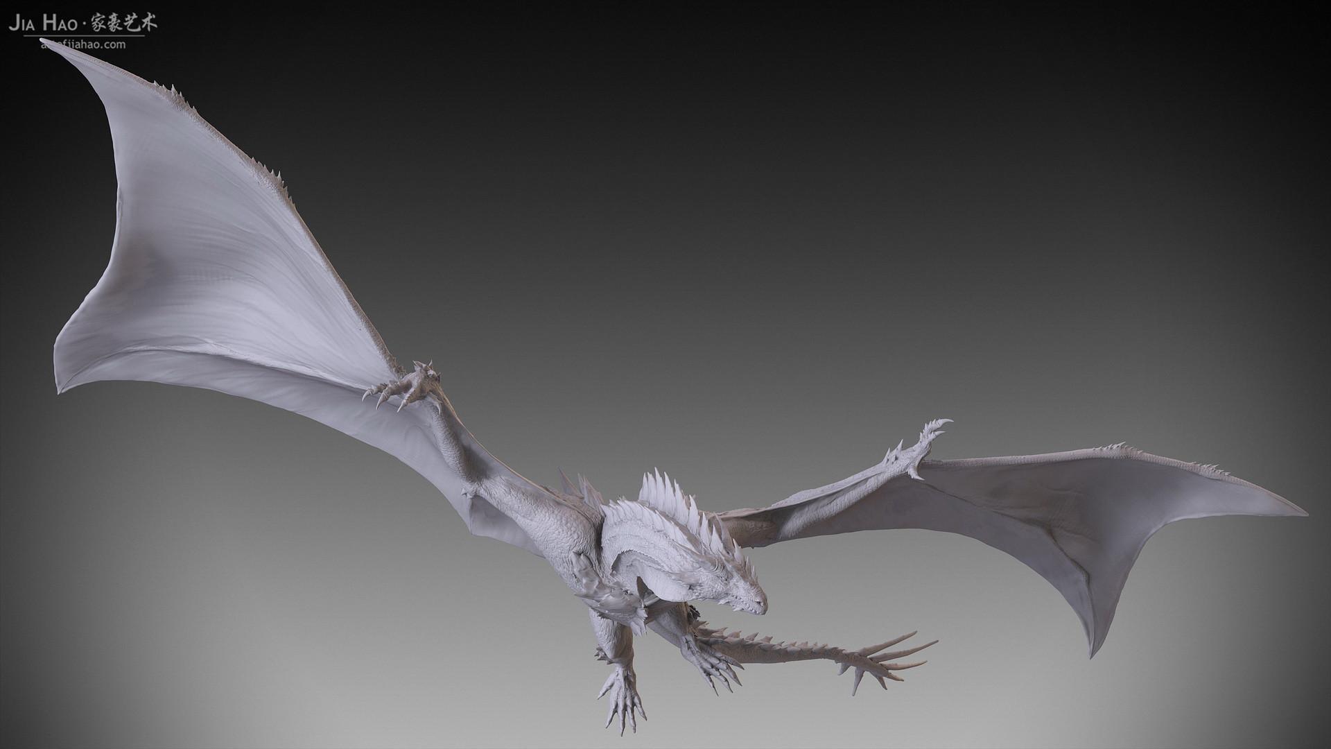 Jia hao 2017 spikydragon flying digitalsculpting 03