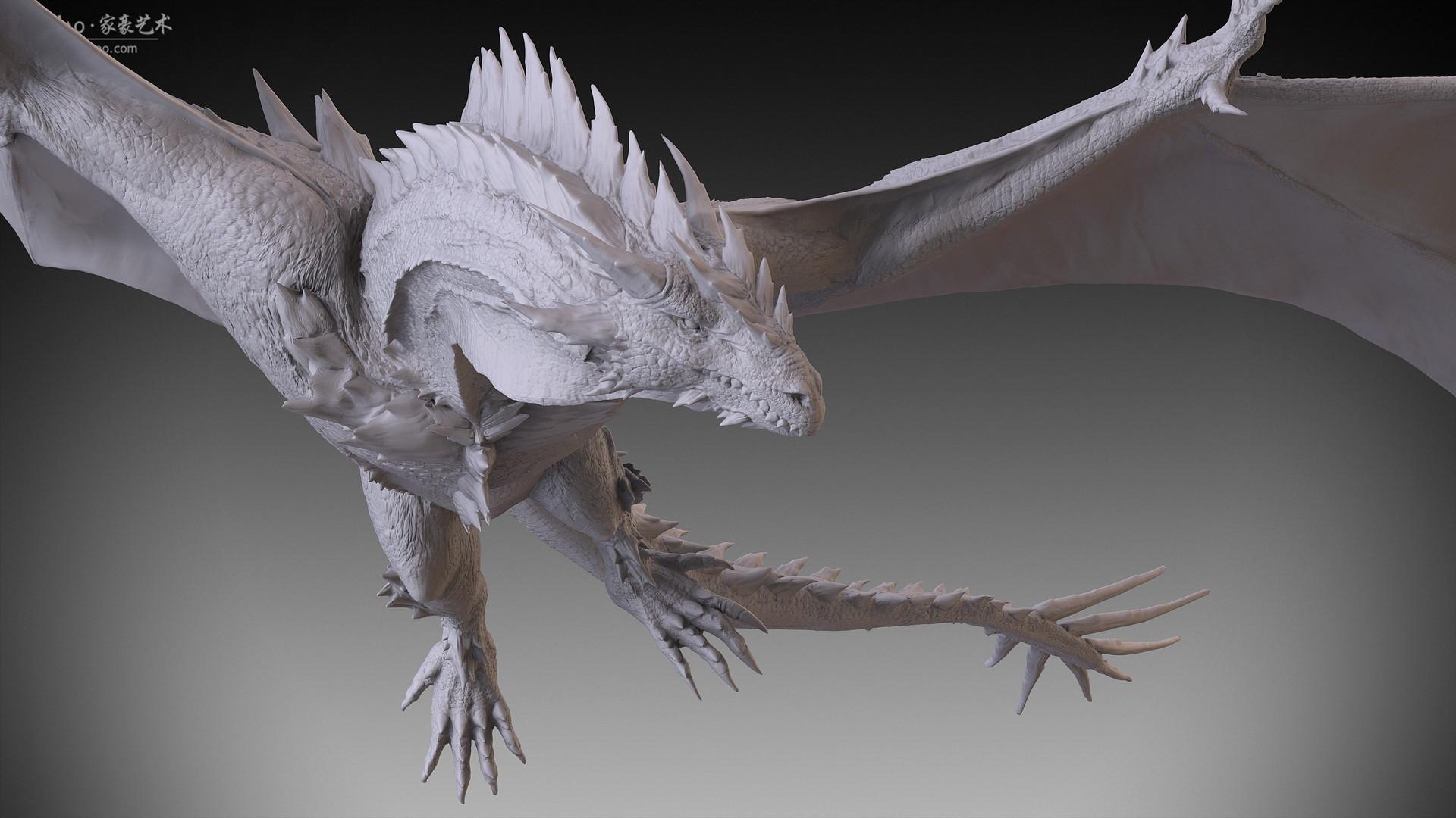 Jia hao 2017 spikydragon flying digitalsculpting 06