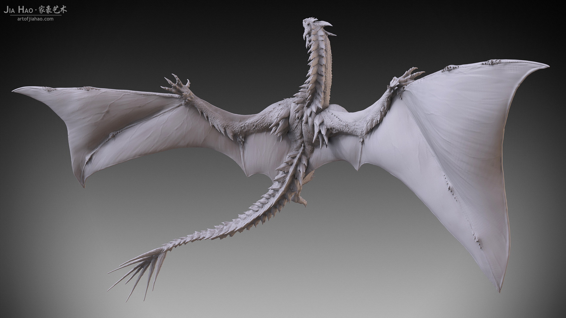 Jia hao 2017 spikydragon flying digitalsculpting 05