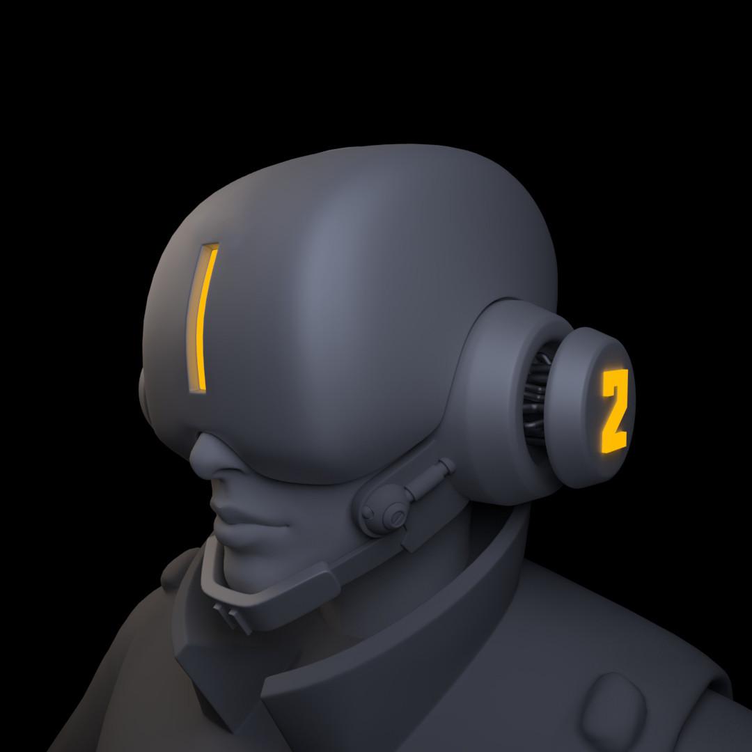 Iain gillespie cyberpunk helmet 03