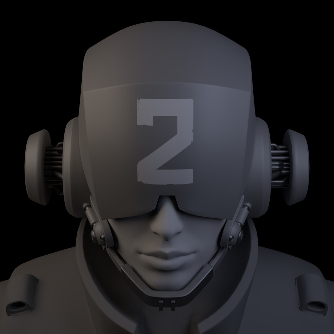 Iain gillespie cyberpunk helmet 06