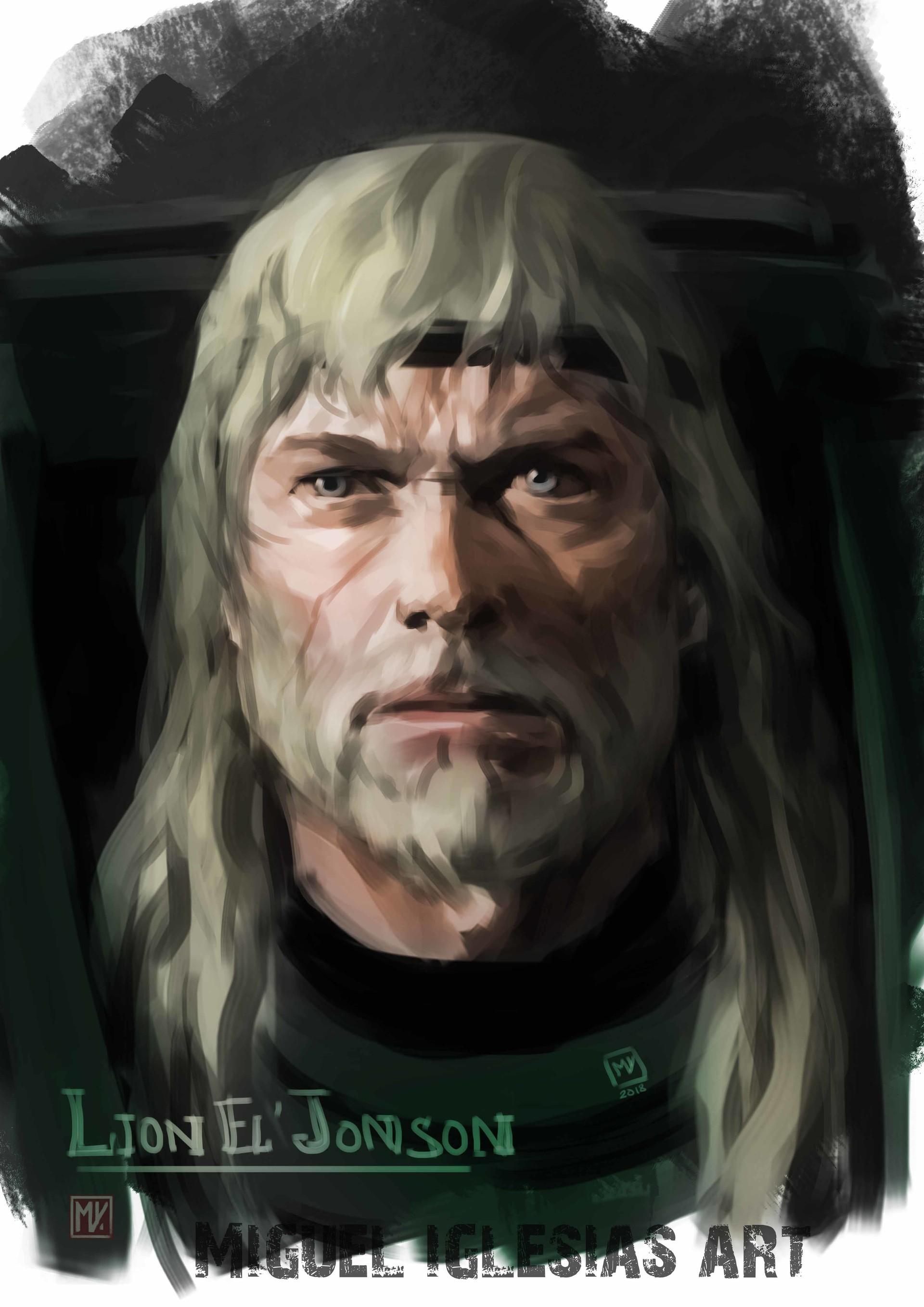 Miguel iglesias lioneljhonson withbear colored portrait x