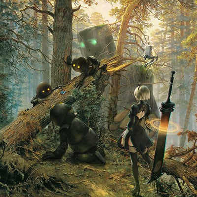 Robots playing in a Pine Forest - or - Bullet with Butterfly Wings - after Shishkin