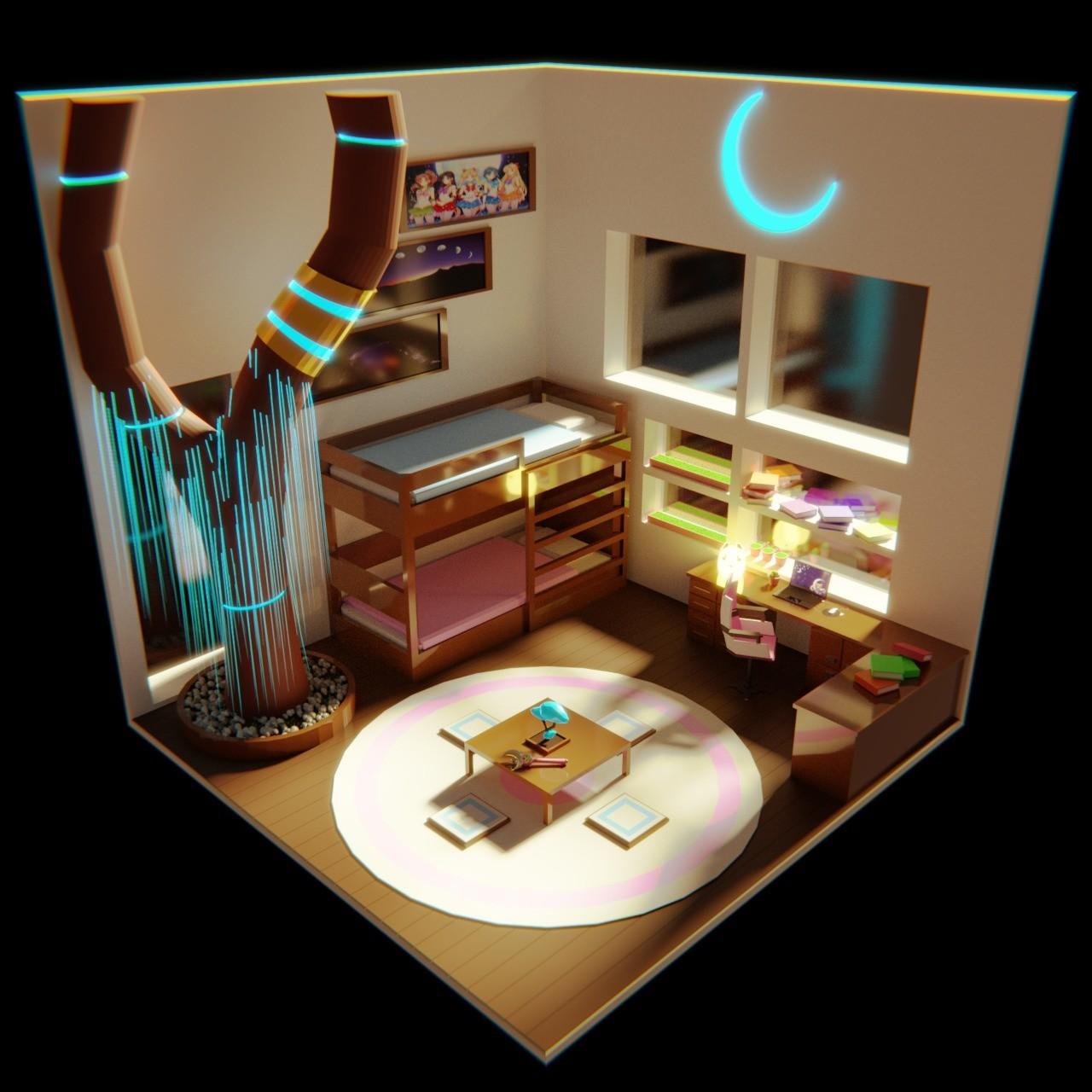 William Pereira Low Poly Bedroom