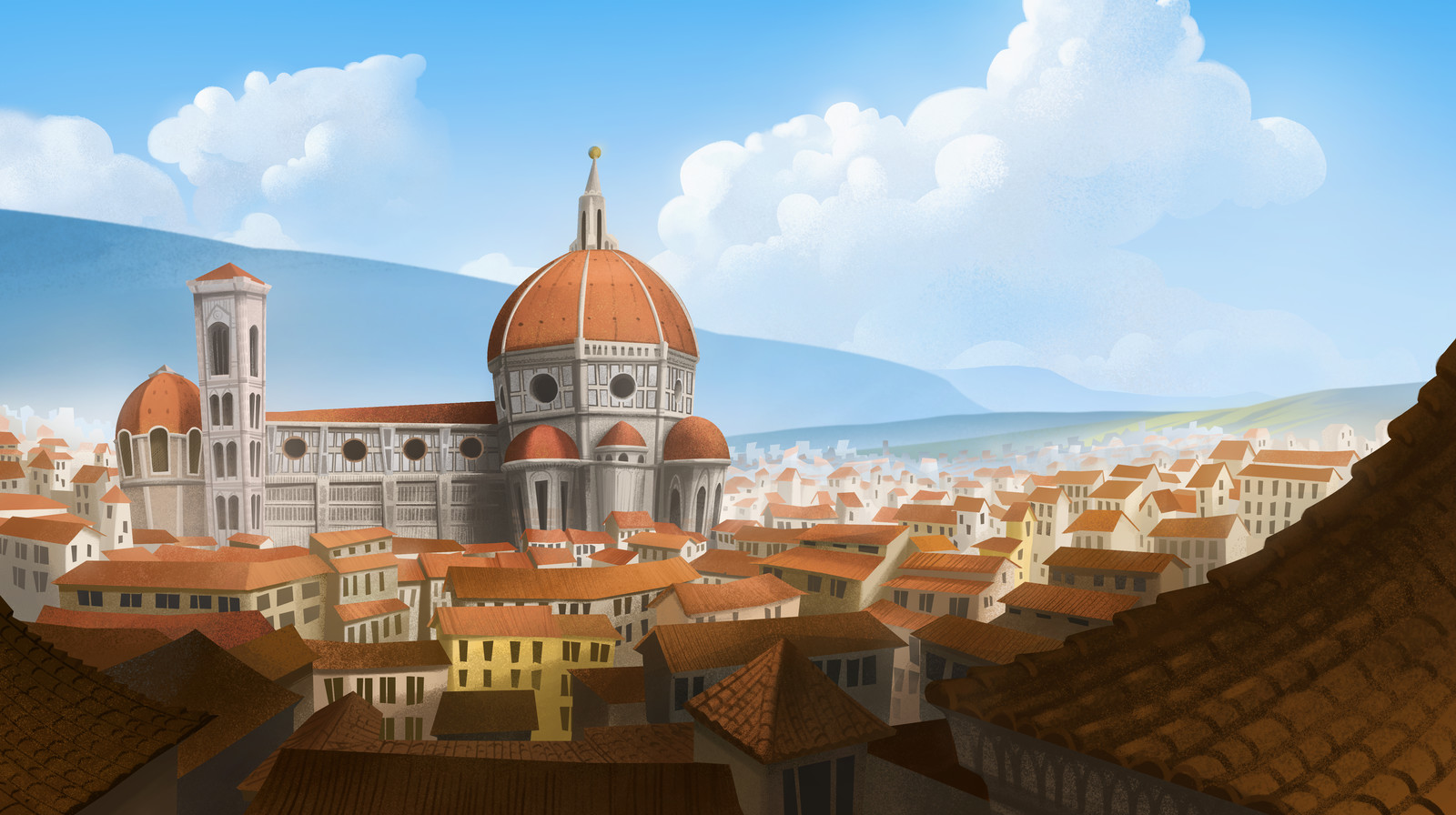 Florence Background Painting: Inspector Gadget Season 4