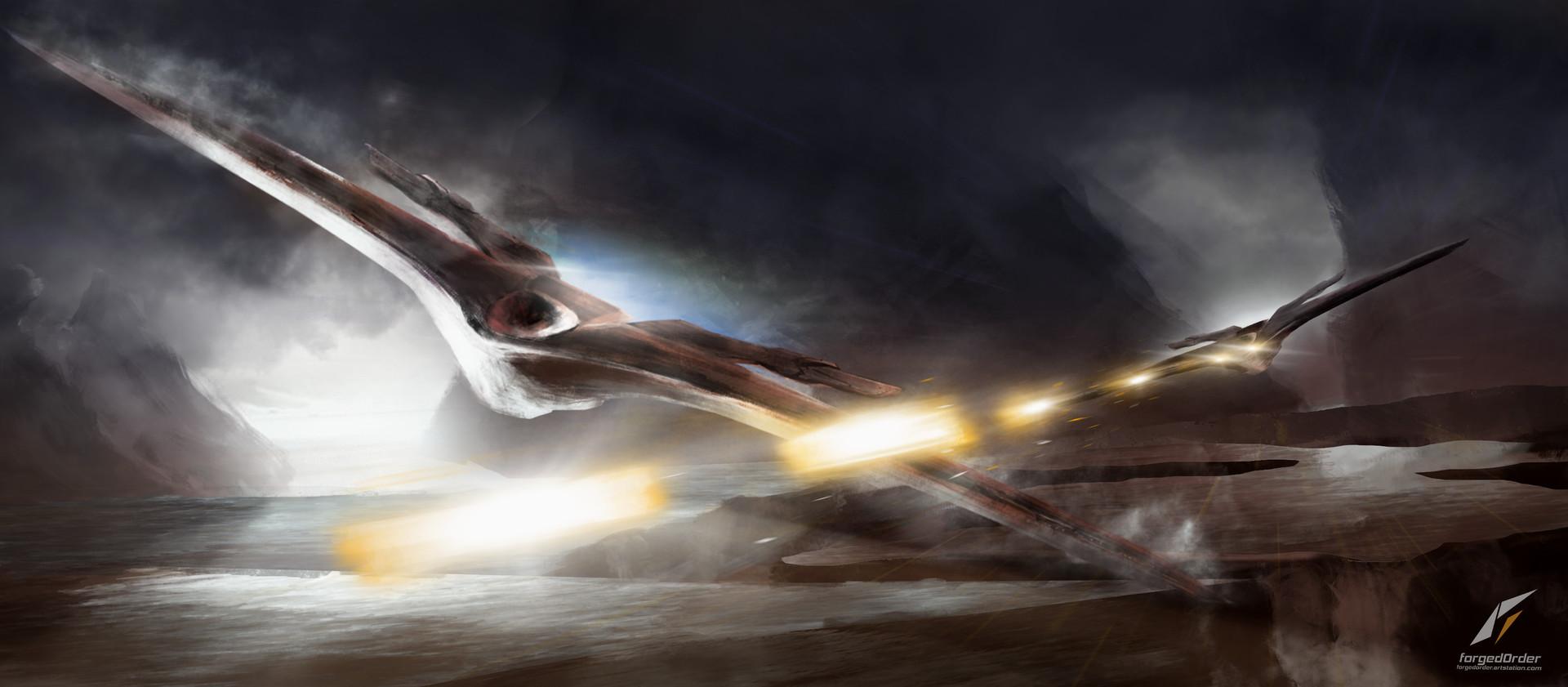 Attila gallik forgedorder spaceship logo
