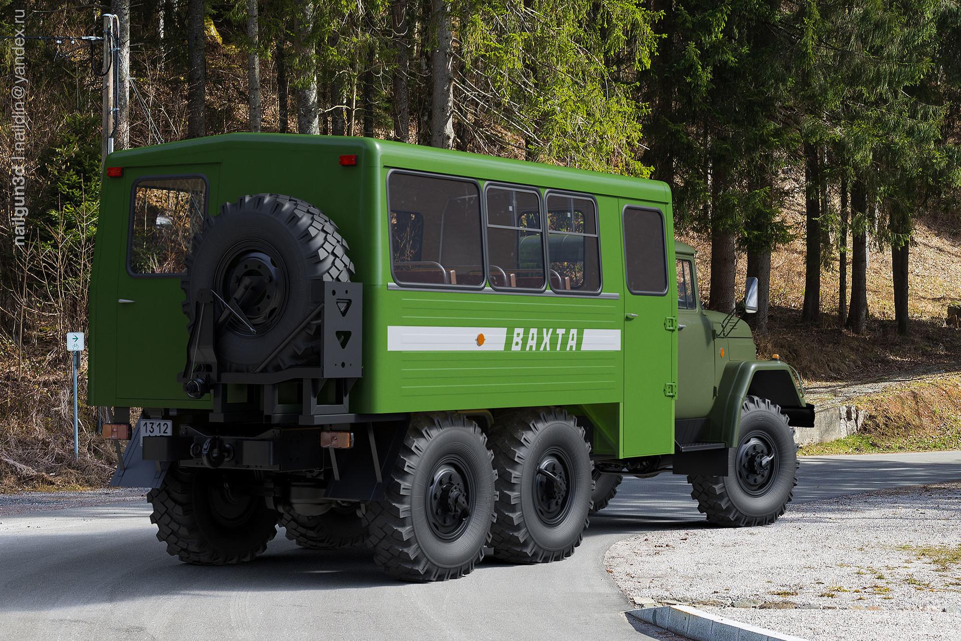 Nail khusnutdinov alg 027 011 zil 131 vachta rear view 3x