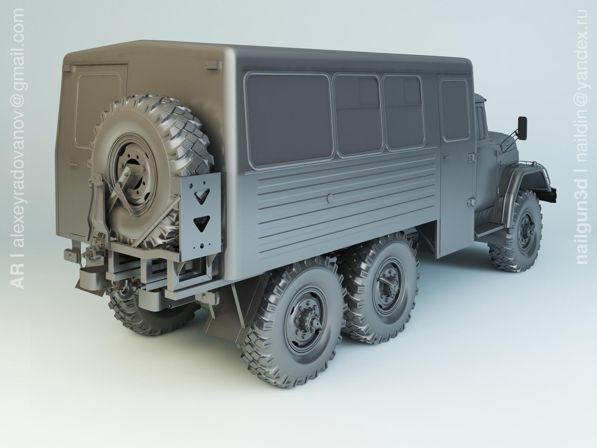 Nail khusnutdinov alg 027 001 zil 131 vachta modelling 1