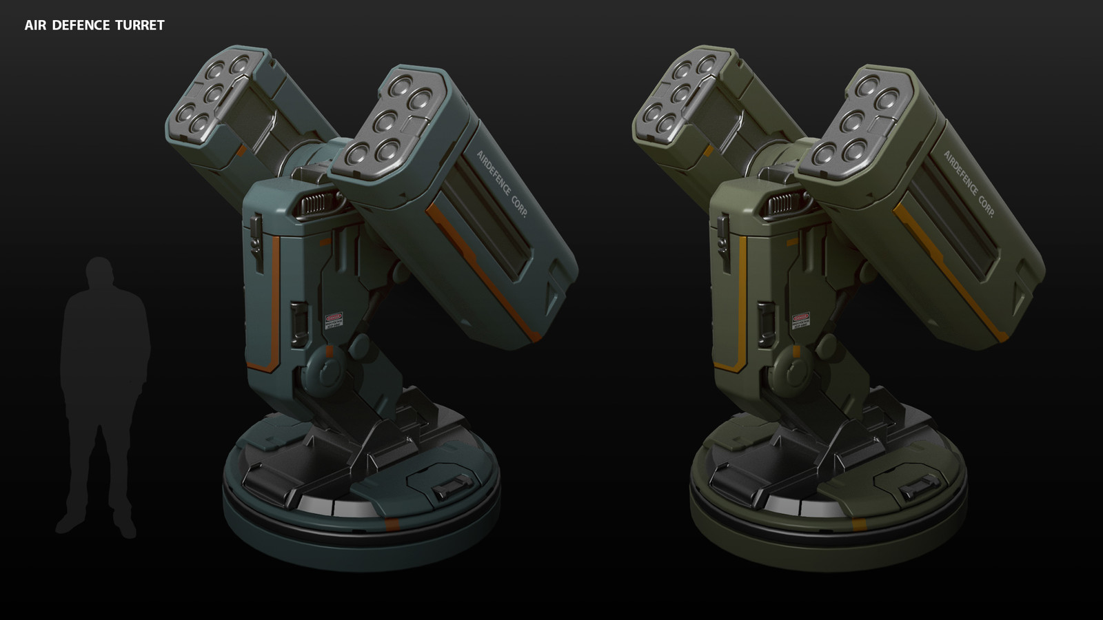 Stylized Sci-Fi Turret