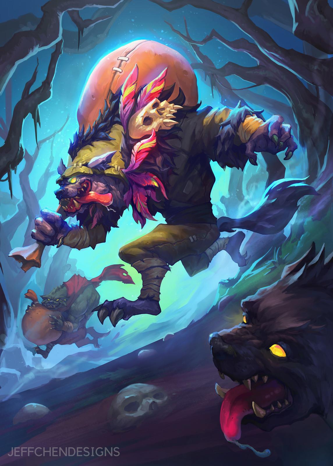 Gnoll Graverobber Witchwood Fanart