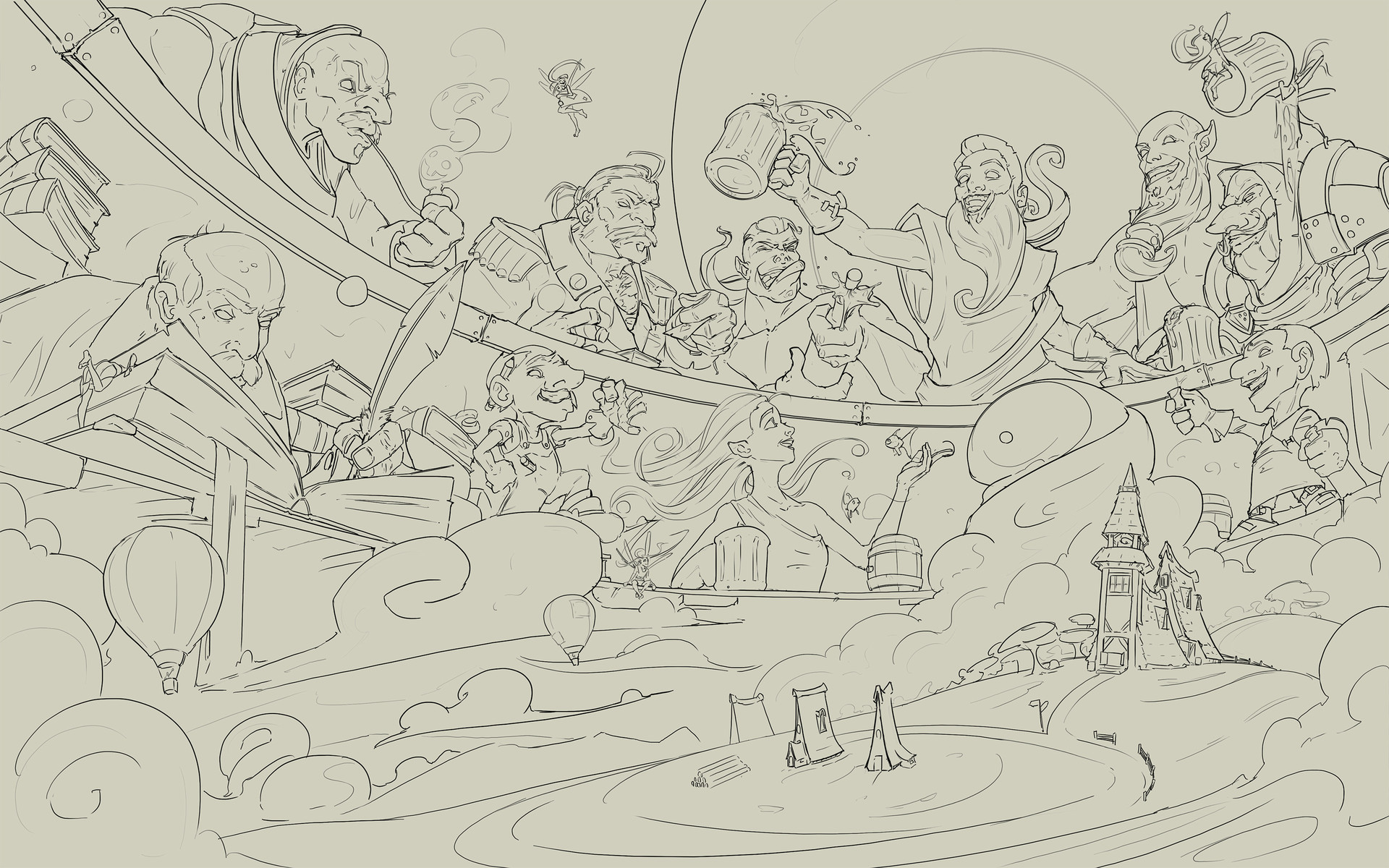 Nicolas morales council of gods whaleshares lineart
