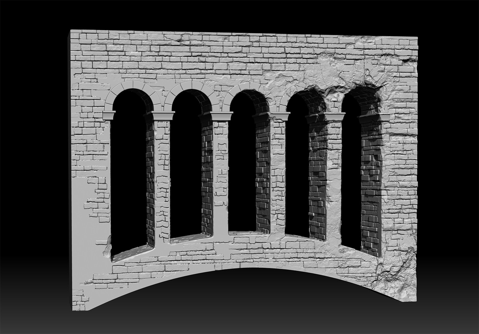 Loosy sculpt, Most of it is hidden in the final image.