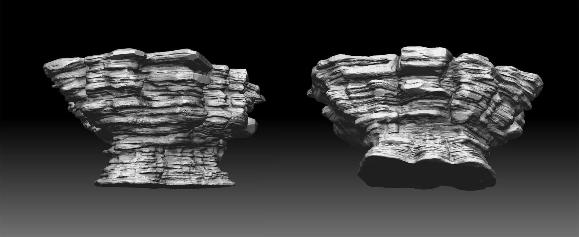 Walid k perrussel rock sculpt 1