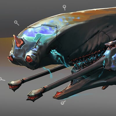 Garrett post fury garrettpost alienspecies1 vehicle spacebike illustration1