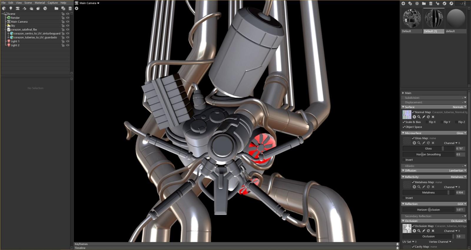 Metal heart - 3d modelling  for EXODEUS (vr videogame)