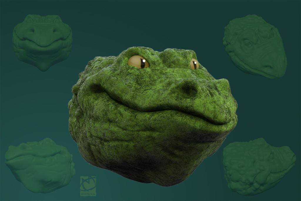 3D crocodile