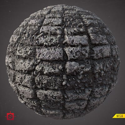 Muhammx sohail anwar old damaged pebble brick wall sphere