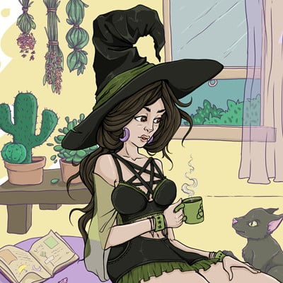Zita banyai witchymorning nostamp