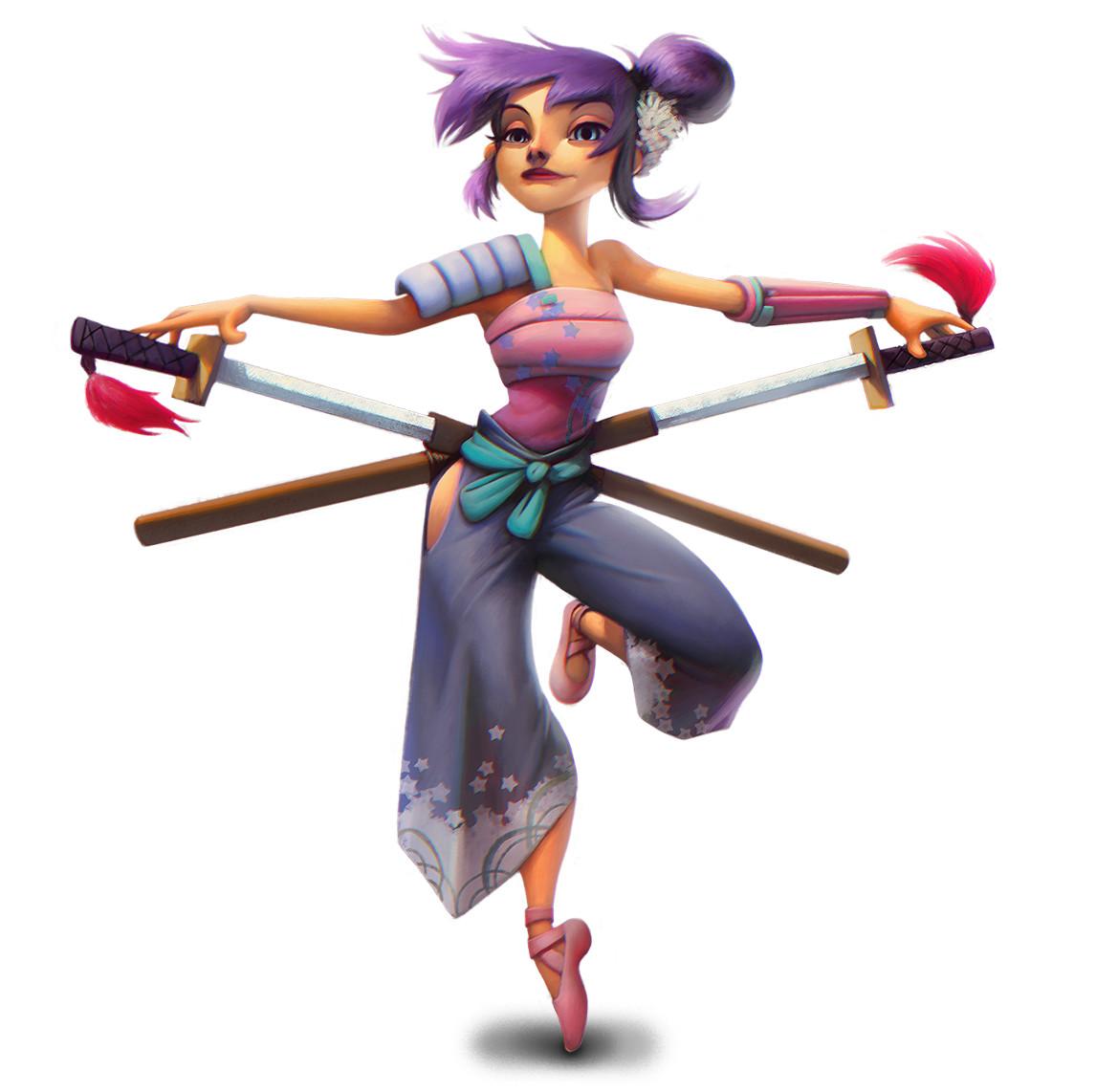 Husni qamhiyeh ballerina samurai by clonerh d4xhxr7