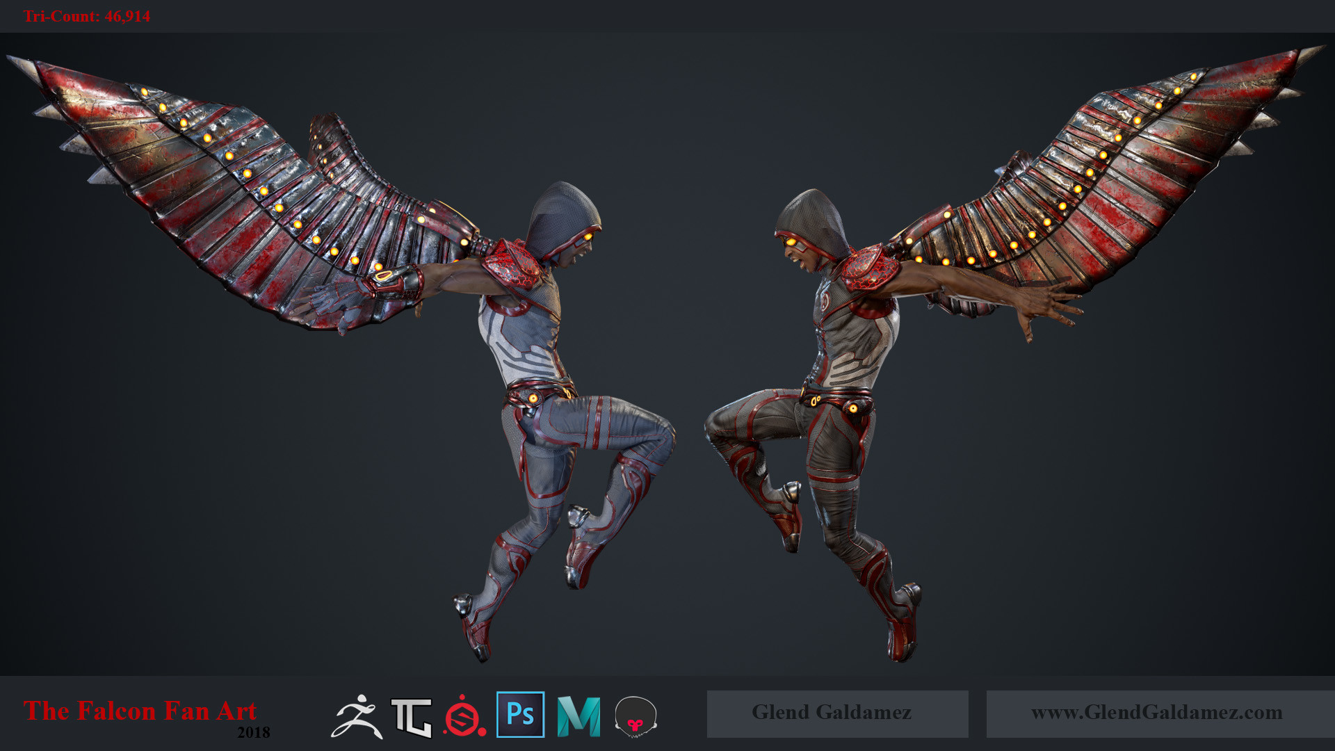 ArtStation - The Falcon (Fan Art) - Game Ready Character Model