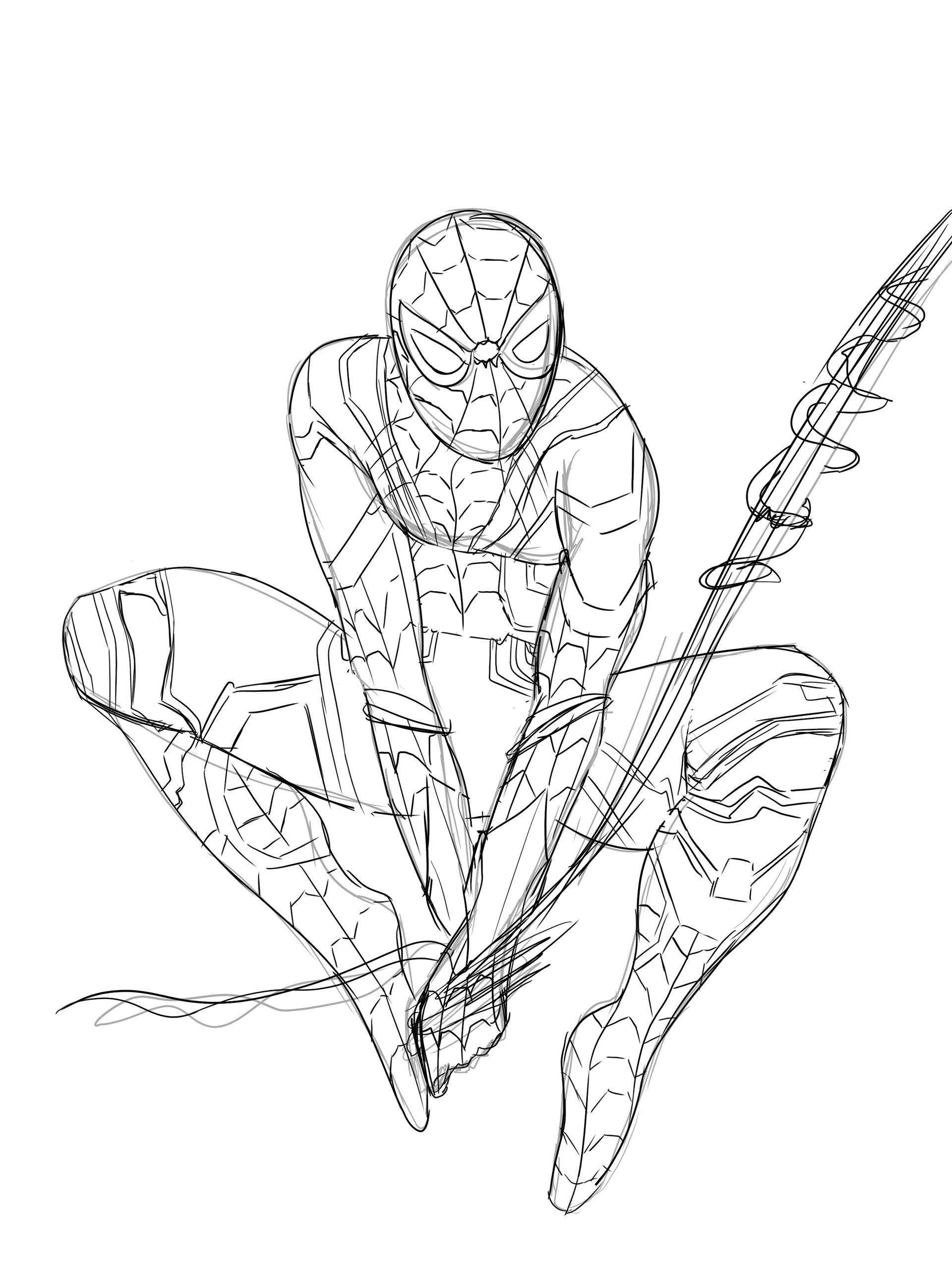 De Juane Davis Iron Spider Fanart