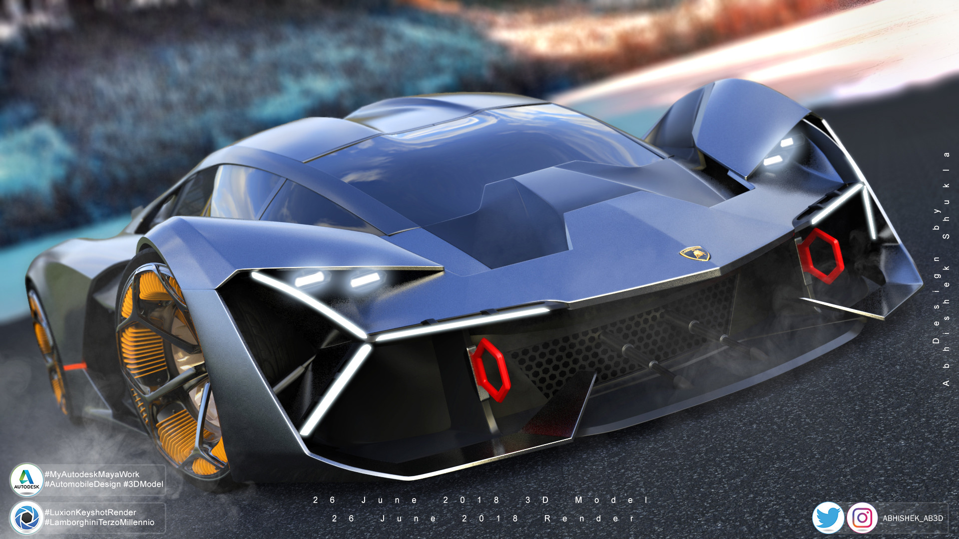 Artstation Lamborghini Terzo Millennio Concept 2017