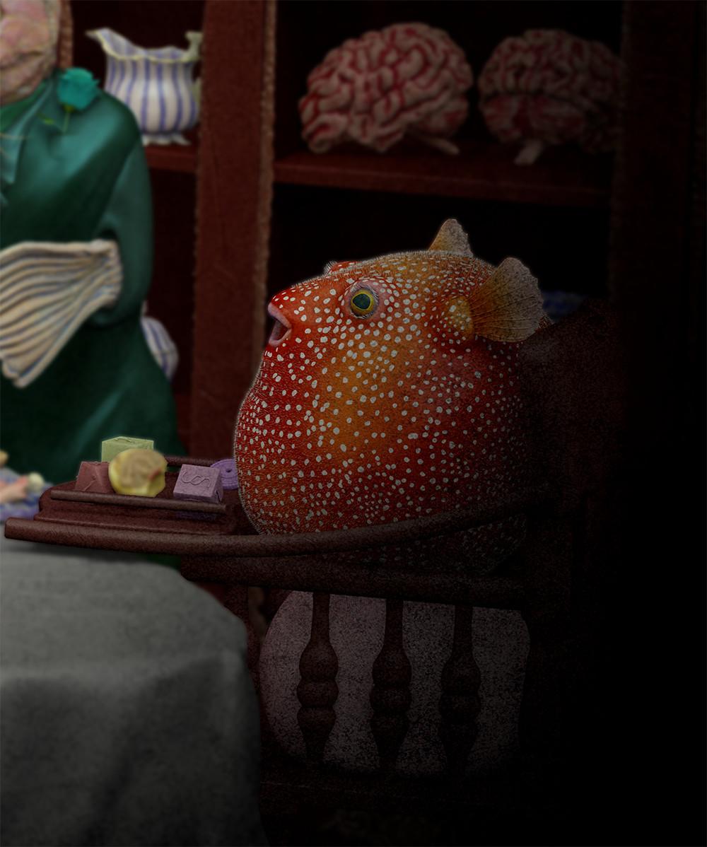 Fish Tea Time - Pufferfish Baby