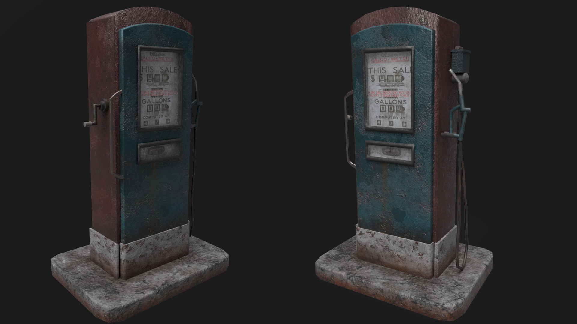 ArtStation - Old gas pump, Yash Deshmane
