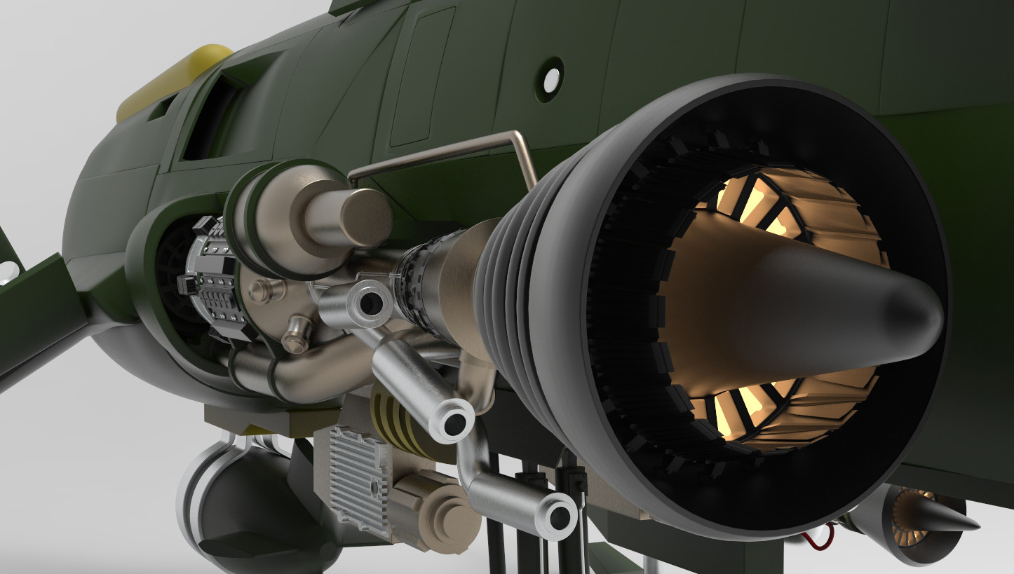 Detail of engine thruster