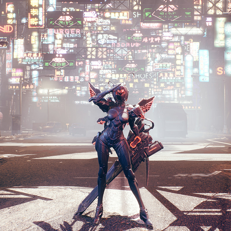 Cyberpunk City - Day Scape