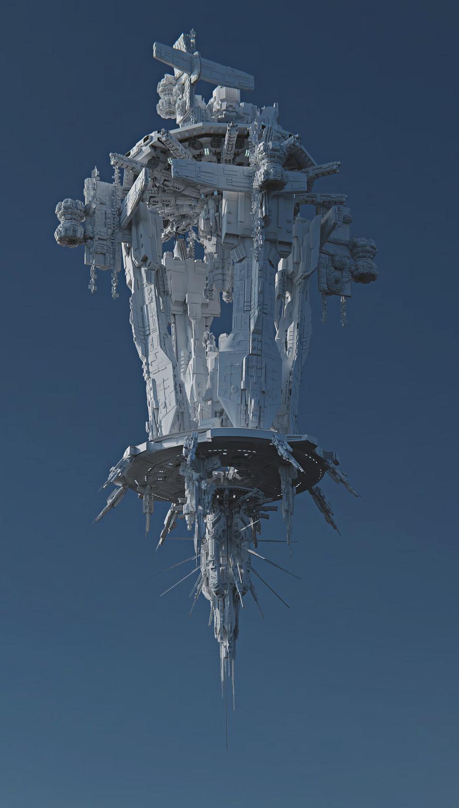 Space Ship High Poly