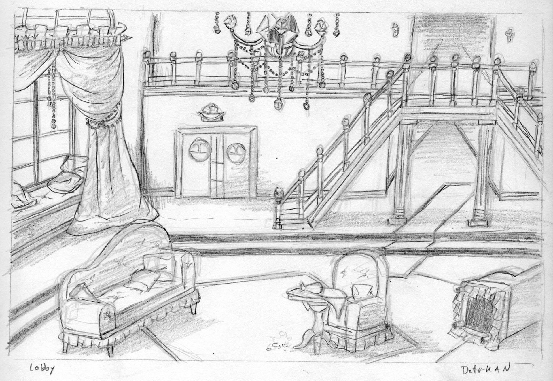 Detonya kan lobby sketch