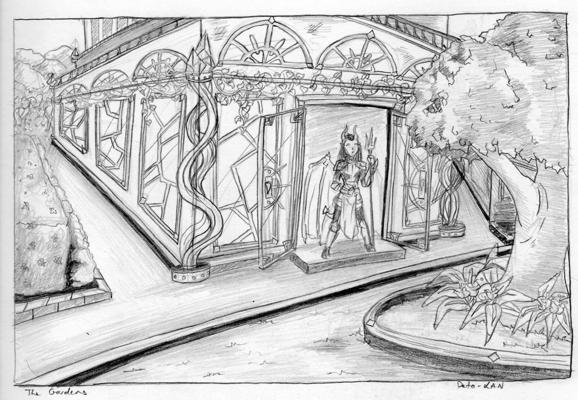 Detonya kan the gardens sketch