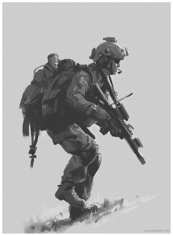 Bogdan marica bogdanmrk soldier sketch 02