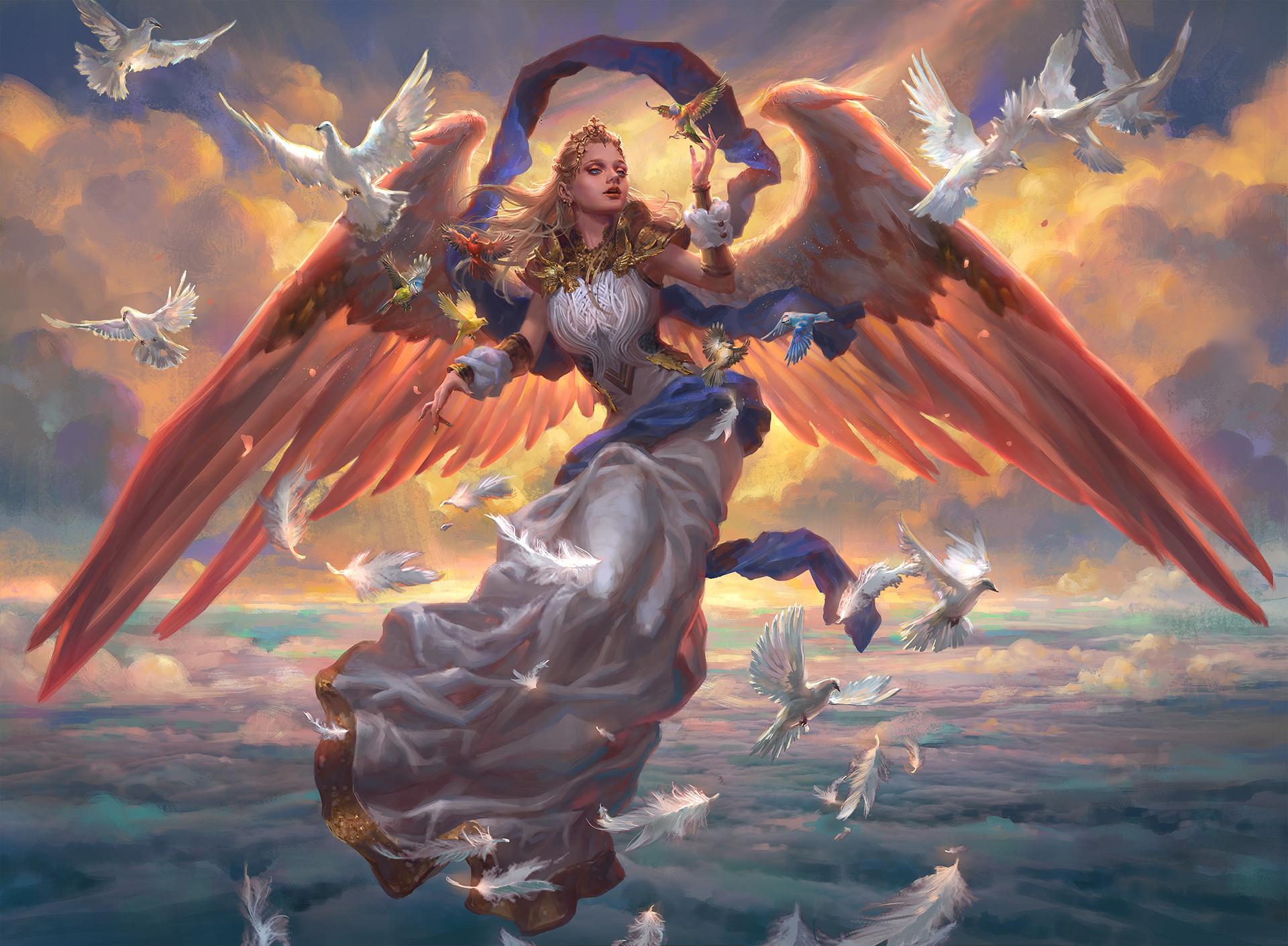 ArtStation - MTG: Angel of Dawn, Livia Prima